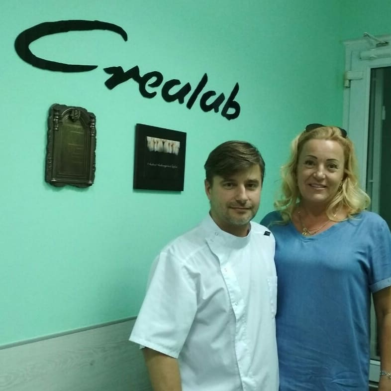 фото с клиенткой в стоматологии